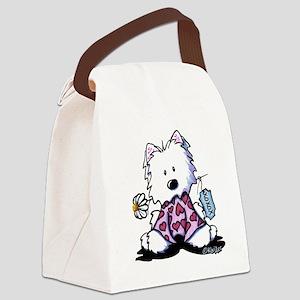 KiniArt Westie OXO Canvas Lunch Bag