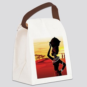 African Lady daily struggles Canvas Lunch Bag