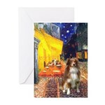 Cafe-AussieShep #4 Greeting Cards (Pk of 20)