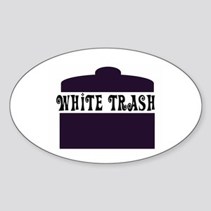 White Trash Can Oval Sticker