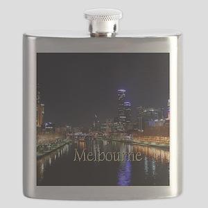 Melbourne, Victoria Australia City Lights Ya Flask