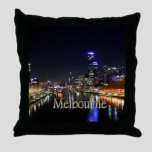 Melbourne, Victoria Australia City Li Throw Pillow