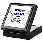 White Trash With Cash Keepsake Box