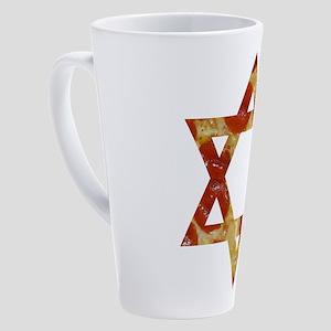pizza star of david 17 oz Latte Mug