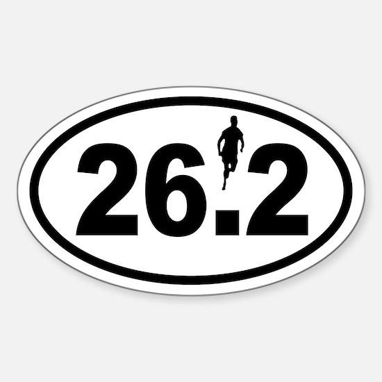 Marathon Runner Oval Decal