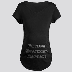 FUTURE STARSHIP CAPTAIN Maternity T-Shirt