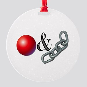The Old Ball and Chain Round Ornament