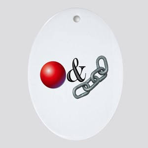 The Old Ball and Chain Ornament (Oval)