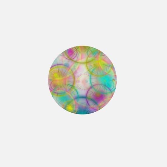 colorful circles Mini Button