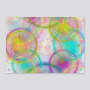 colorful circles 5'x7'Area Rug