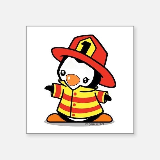 Firefighter Penguin Sticker