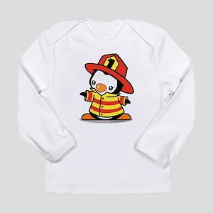 Firefighter Penguin Long Sleeve T-Shirt