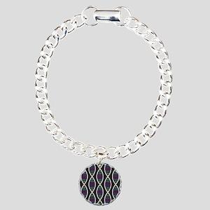 Strands of DNA Charm Bracelet, One Charm