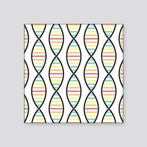 "Strands of DNA Square Sticker 3"" x 3"""