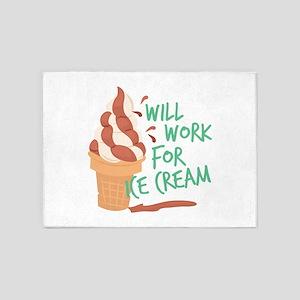 Work For Ice Cream 5'x7'Area Rug