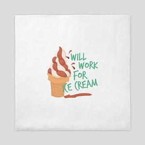 Work For Ice Cream Queen Duvet