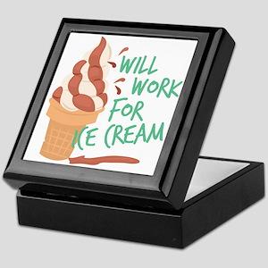 Work For Ice Cream Keepsake Box