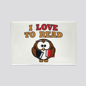 Love to Read Owl Rectangle Magnet