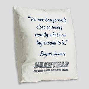 RAYNA QUOTE Burlap Throw Pillow