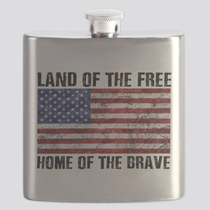 Land Of The Free,Home Of The Brave Flask