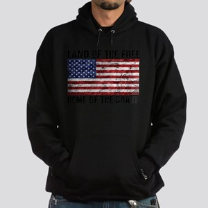 Land Of The Free,Home Of The Brave Hoodie