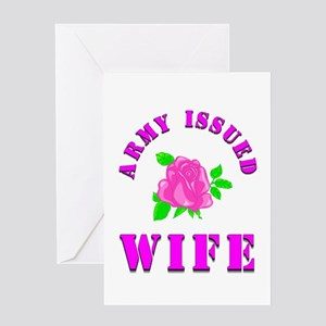 army wife Greeting Card