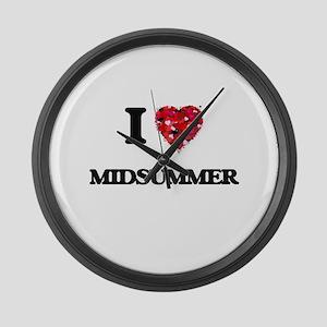 I Love Midsummer Large Wall Clock