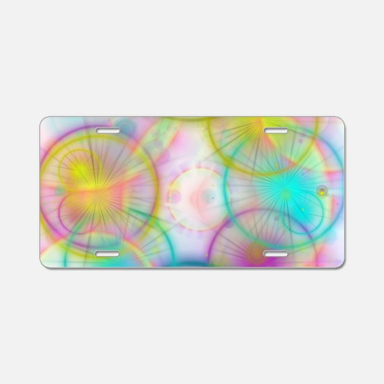 colorful circles Aluminum License Plate