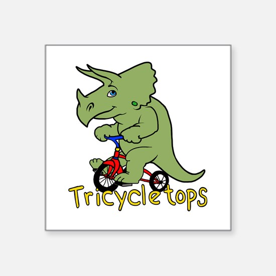 Triceratops Bicycle Sticker