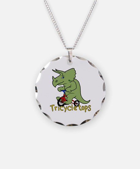 Triceratops Bicycle Necklace