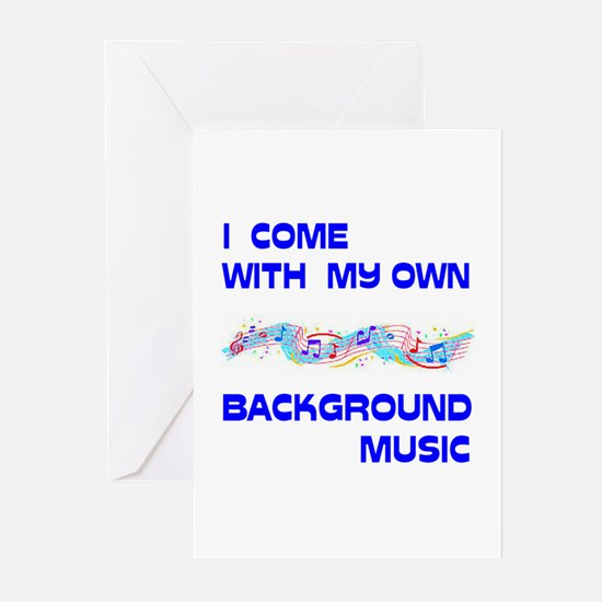 BACKGROUND MUSIC Greeting Cards (Pk of 20)