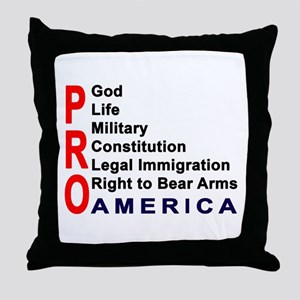 Pro America Throw Pillow