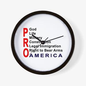 Pro America Wall Clock