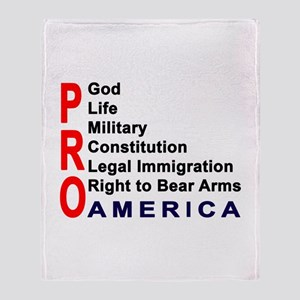 Pro America Throw Blanket