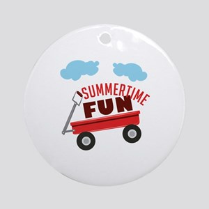 Summertime Fun Ornament (Round)