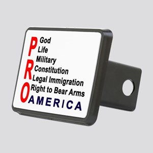 Pro America Rectangular Hitch Cover