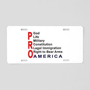 Pro America Aluminum License Plate