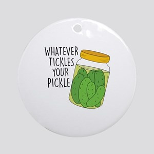 Tickles Your Pickle Ornament (Round)