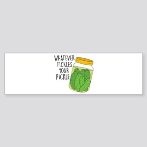 Tickles Your Pickle Bumper Sticker