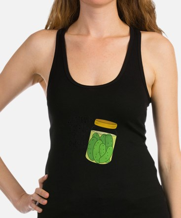 Tickles Your Pickle Racerback Tank Top