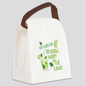 Rum Mint & Lime Canvas Lunch Bag