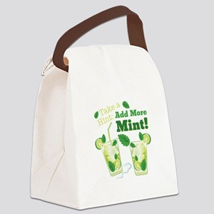 Add More Mint! Canvas Lunch Bag