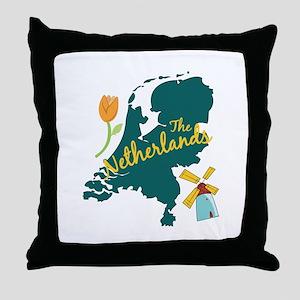 The Netherlands Throw Pillow