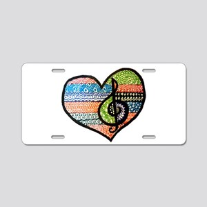 Original Music Heart Treble Aluminum License Plate