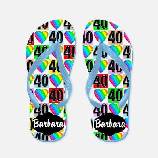 40th Love You Flip Flops