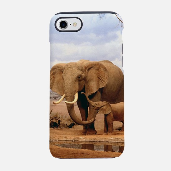 Family Of Elephants iPhone 8/7 Tough Case
