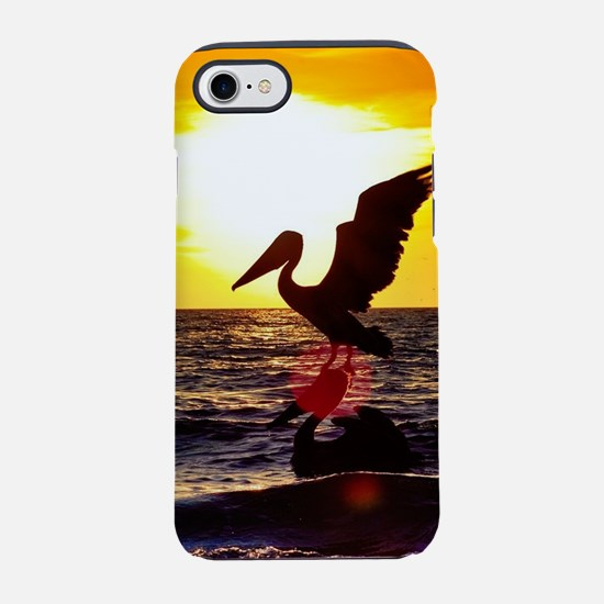 Pelican On Ocean At Sunset iPhone 8/7 Tough Case