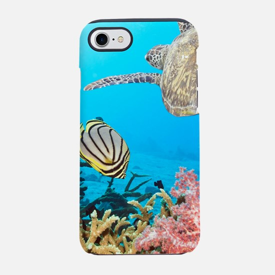 Turtle and Fishes Under Wate iPhone 8/7 Tough Case