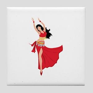 Belly Dancer Tile Coaster