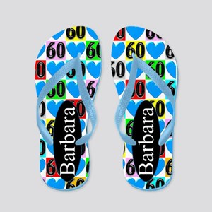 60th Blue Love Flip Flops
